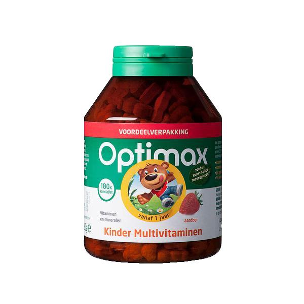 【3件装】Optimax婴幼宝宝全能加强型综合维生素咀嚼片水果180粒