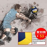 Li Ning No. 5 volleyball genuine soft middle school students indoor training competition college students high school sports special volleyball