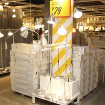 温馨宜家IKEA勒斯达阅读灯落地灯照明灯卫士灯学习灯读书灯铝包邮