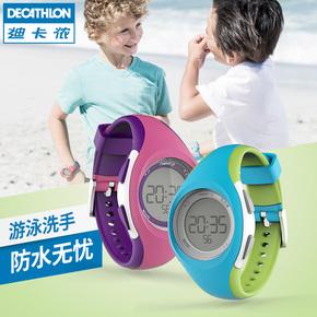 迪卡侬防水儿童手表运动手表电子表儿童男女童可夜视RUN K
