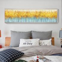 壁画抽象油画客厅风景装饰画欧式美式轻奢挂画金美纯手绘手工油画