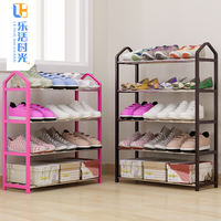 Simple multi-layer shoe rack home economic dormitory door dustproof storage shoe cabinet space assembly small shoes shelf