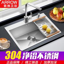 Wrigley Bathroom 304 Thickened Stainless Steel Kitchen Manual Tank Single Tank Household Bench Washing Basin Washing Pool