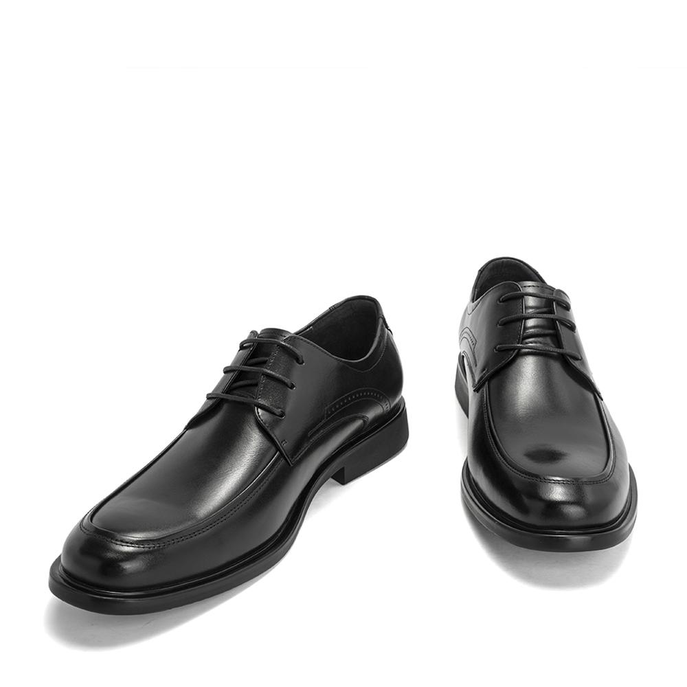 天美意春秋商场同款方跟德比鞋男皮鞋2IS01CM8