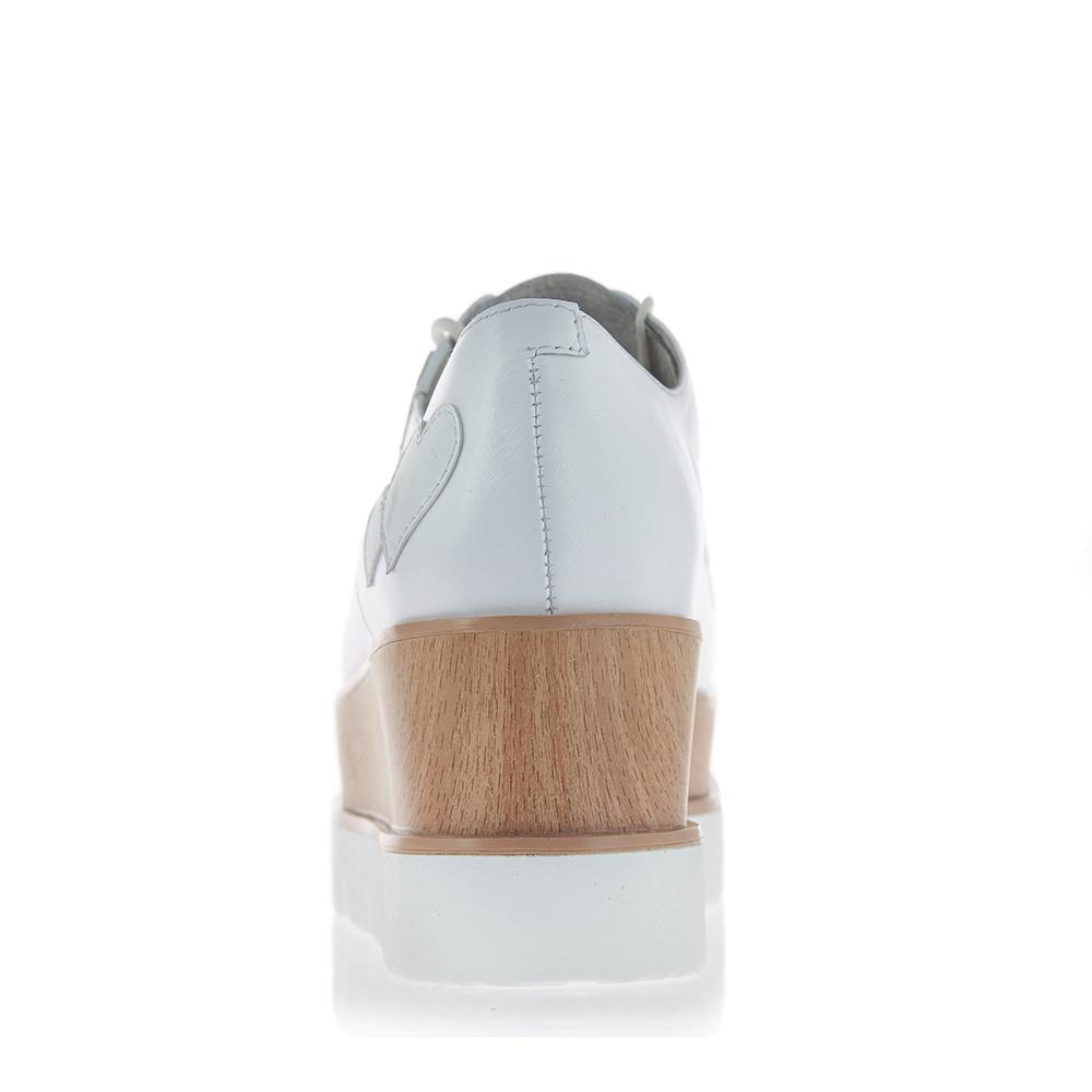 6D926AM7 牛皮小白鞋单鞋松糕变色鞋卡乐鞋女鞋 2017 天美意