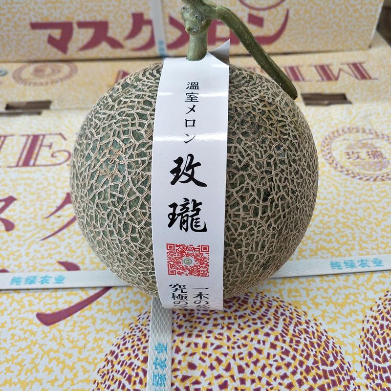 静冈夕张玫珑蜜瓜 5-8只装 爆甜 玫瓏口口蜜瓜 玫珑蜜瓜净重14斤