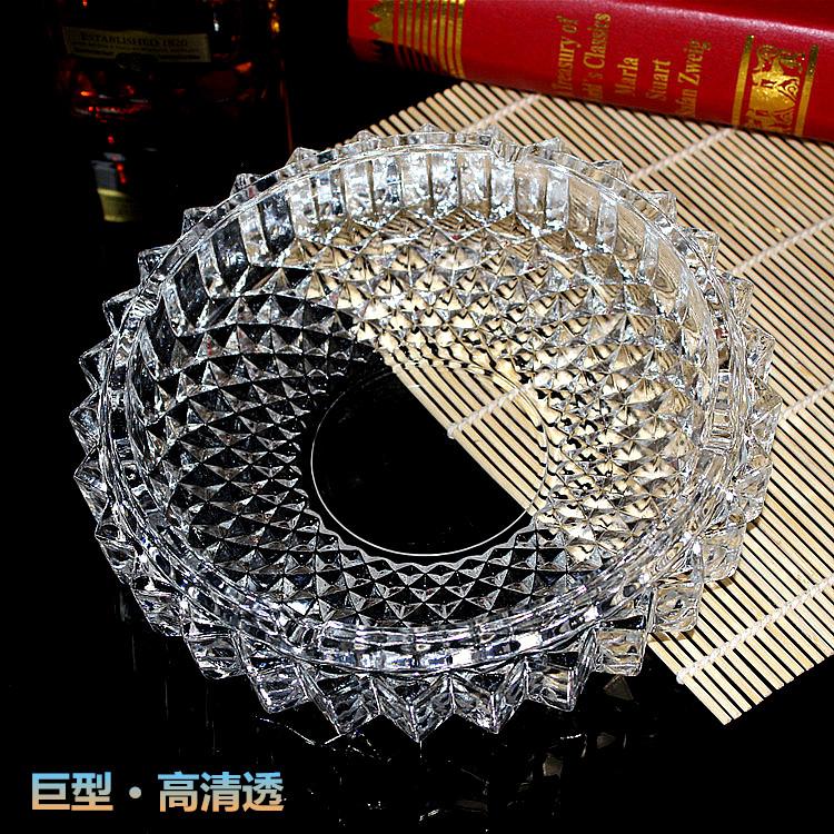 玻璃烟灰缸大号特大客厅