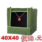 嘉乐加厚帆布弹弓靶箱加固消音布练习弹射击靶折叠式钢珠箱