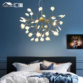 北欧萤火虫客厅灯具后现代简约艺术卧室餐厅灯饰创意个性树枝吊灯