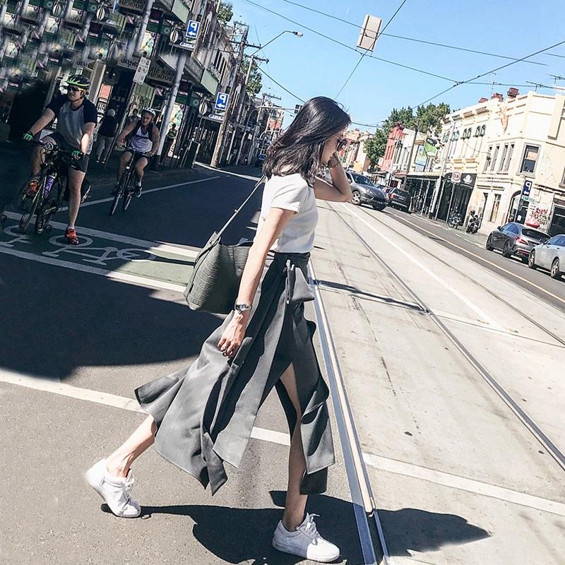 2018夏季新款小清新俏皮港风社会bf小心机网红两件套装裙子女时尚