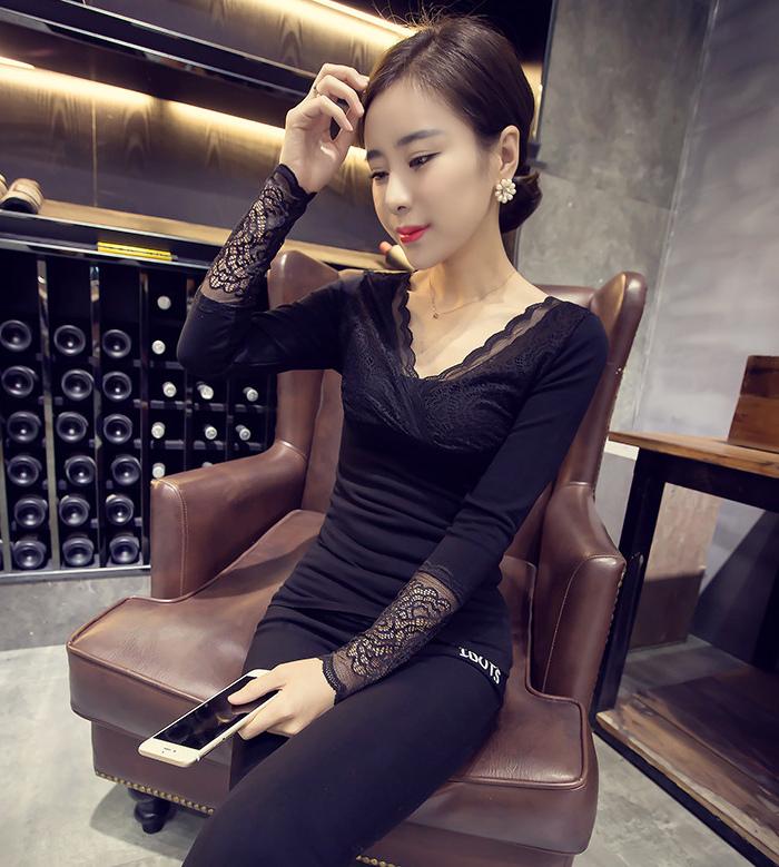 韩版蕾丝秋衣