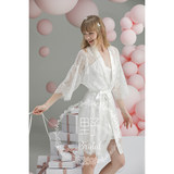 Moye wedding lace white two-piece white bride morning dress bridesmaid robe holiday new wedding