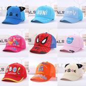 7岁男女宝宝卡通鸭舌帽遮阳帽网格太阳帽凉帽潮 儿童帽子夏季2