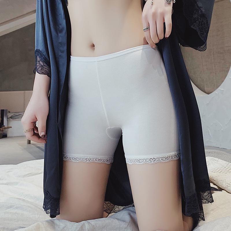 2019夏季新款女生莫代尔三分安全裤防走光蕾丝边短裤女裤打底裤
