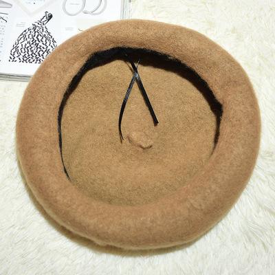 秋冬天欧美风贝雷帽女士气质平顶海军帽黑白格子英伦鸭舌帽报童帽