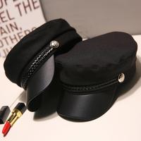 鸭舌海军帽子女夏韩版潮百搭贝雷帽春季薄款网红八角帽女英伦时尚