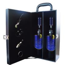 双支AOC法国原瓶进口红酒百博珍藏干红葡萄酒波尔多送红酒杯