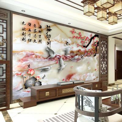 梅花电视背景墙瓷砖