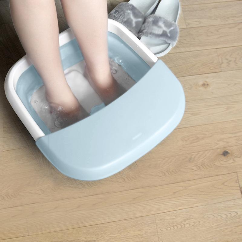 可定制印LOGO新款北欧欧慕折叠足浴盆全自动按摩泡脚盆电动恒温加