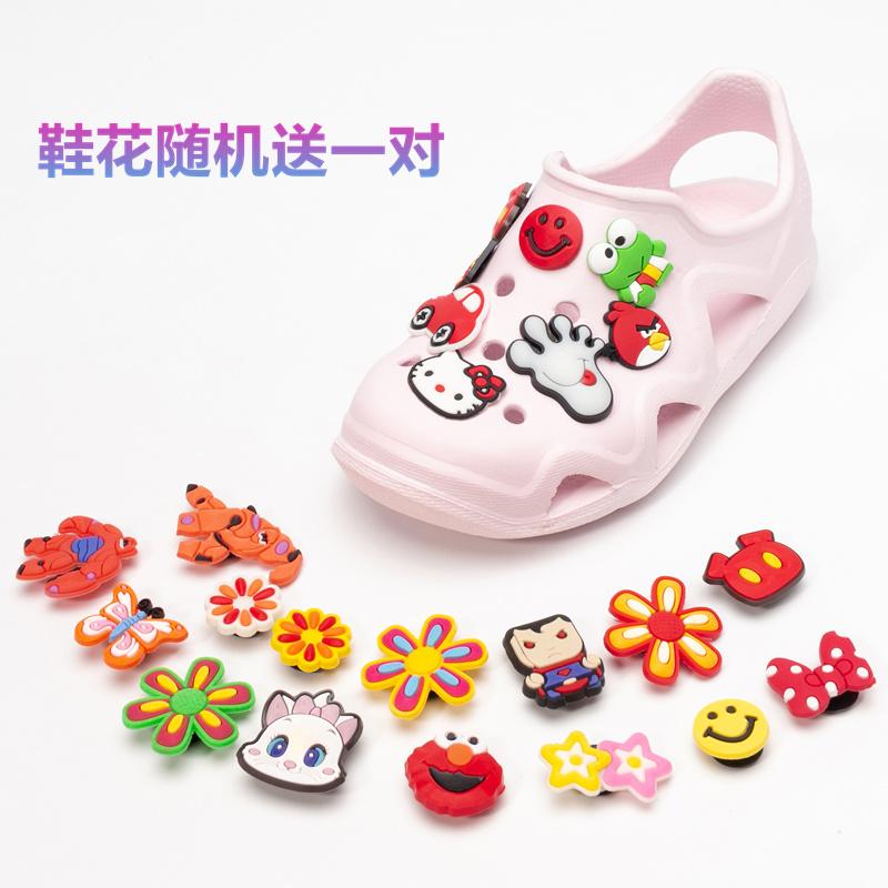 儿童洞洞鞋男童沙滩鞋女宝宝凉鞋果冻夏季中小童轻便防滑软底拖鞋