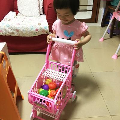 加大号购物车玩具儿童超市手推车仿真女孩宝宝过家家1-3岁小推车