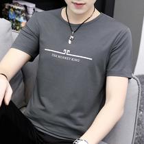 宽松不规则前短后长款纯色上衣体恤衫oversize恤T欧洲站男士短袖