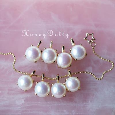 【桃栗】新年大回馈一只奶黄包天然淡水珍珠s925纯银项链吊坠七夕
