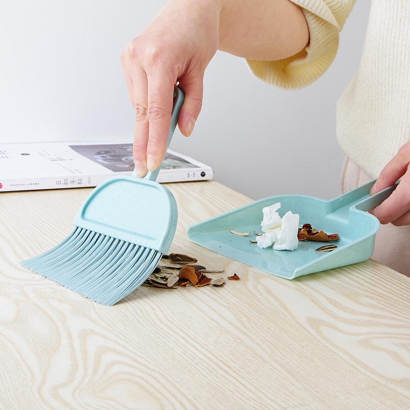 创意垃圾铲簸萁迷你撮箕畚斗桌面清洁小扫把塑料扫帚簸箕组合套装