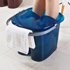 家用塑料足浴桶 北欧风足浴盆加厚加高洗脚盆泡脚盆 带按摩洗脚桶