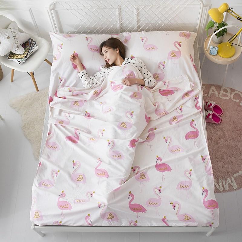 全棉旅行隔脏睡袋外出酒店宾馆卫生垫布纯棉床单赠送固定带