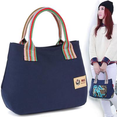 春夏妈妈小手拎包帆布中年女包休闲手提包百搭小布包上班购物小包