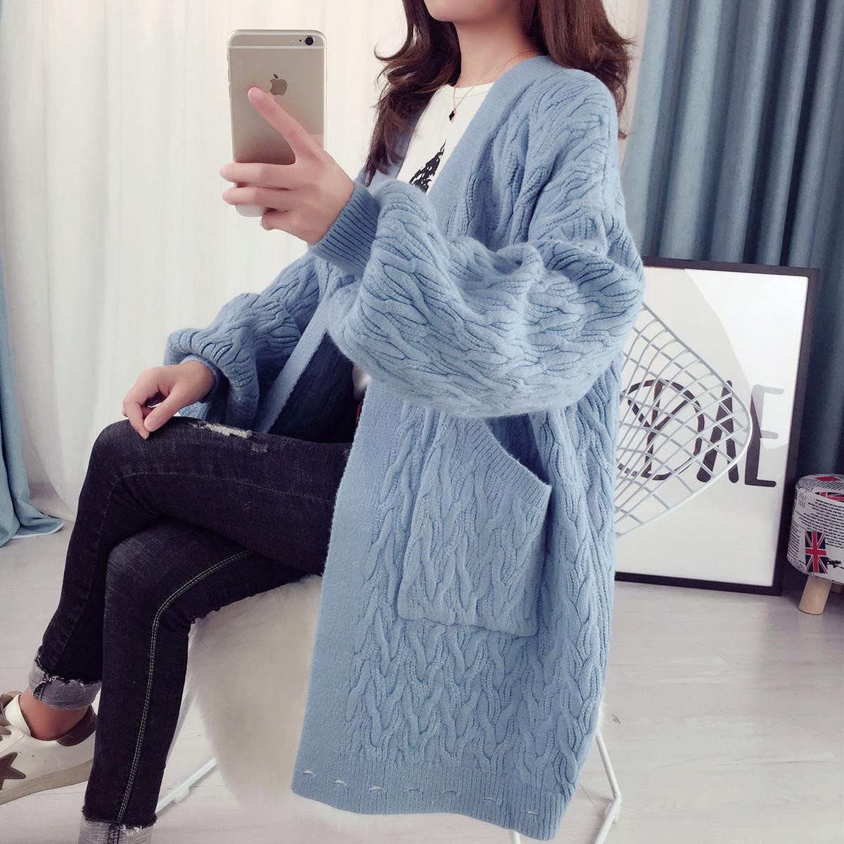 韩国麻花针织衫