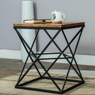北欧客厅沙发边几角几床头柜边柜铁艺简约小方桌小茶几实木咖啡桌