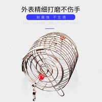 筏 打 打 野 wild fishing stainless steel nesting cages feeding device fixed point long shot sinking fishing supplies gadgets