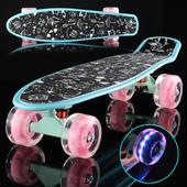 小鱼板青少年滑板成人儿童初学者男女生公路刷街四轮滑板 时尚