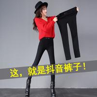 加长打底裤女薄款外穿显瘦韩版黑色裤子女2018新款高腰小脚魔术裤