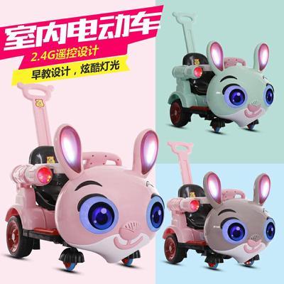 新款儿童电动汽车四轮遥控玩具车宝宝可坐摇摆童车手推式电动车