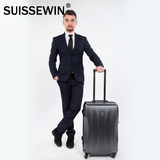 SUISSEWIN universal wheel luggage trolley case female 20 inch 24 inch 28 inch tide male large capacity frosted suitcase
