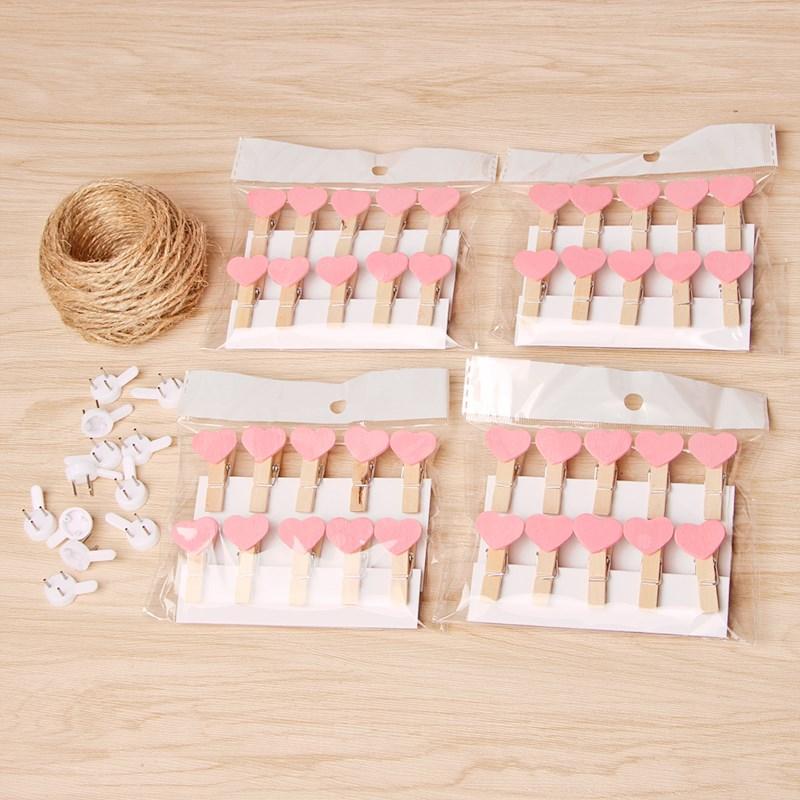 DIY照片夹子麻绳道具创意个性明信片照片墙渔网宿舍布置挂墙无痕I