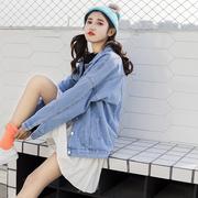 宽松牛仔外套春季女2018新款韩版百搭学生牛仔衣bf牛仔褂秋季女装