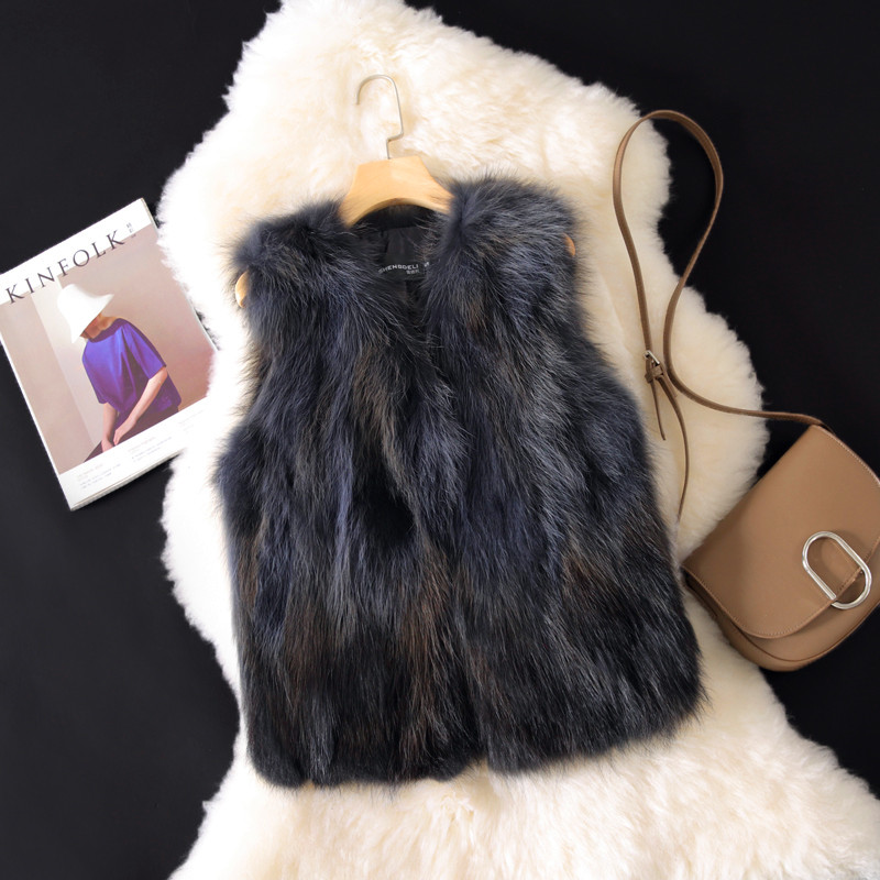 was thin fox fur Vest women in the long section of the fur one special fur vest 貉