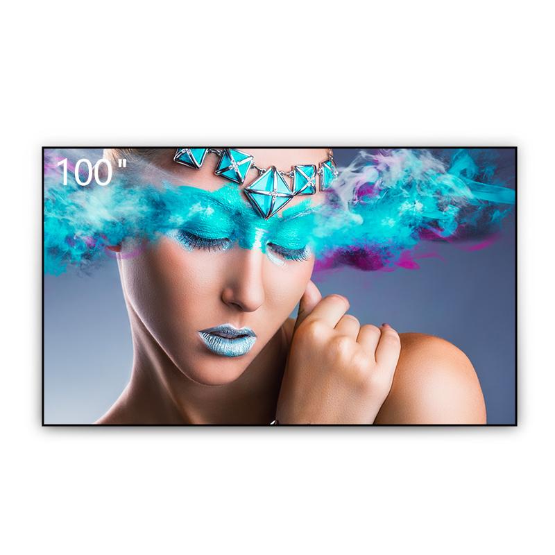 峰米Fabulus F1菲涅尔抗光屏幕硬屏100英寸投影幕布抗光屏超短焦激光电视屏幕适用小米米家激光电视