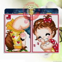 Mika cross stitch Card set Card card bag card bank card Card line brodery material package K133 play