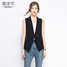 Summer thin suit waistcoat for women in Western armour 2009 new style temperament hidden button slim rope pulling waistcoat waistcoat