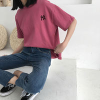 Korea ulzzang Harajuku BF wind short-sleeved t-shirt female students loose wild ins super fire Korean style chic shirt