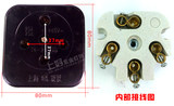 Black three-phase four-wire plug socket four eyes round four-hole 20A/25A 380V/440V industrial plug and socket