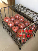 Cart basketball cart ball box storage basketball car loading ball ball storage basket basketball kindergarten stainless steel