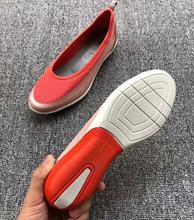 网面女鞋 子一脚蹬套脚懒人鞋 芭蕾舞鞋 舒适气垫运动休闲鞋 2019新款