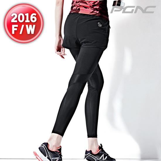 2017秋冬新品PGNC韩国PEGGY佩吉酷女子羽毛球服速干运动长裤正品5