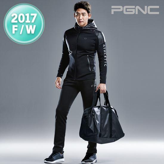 2017秋冬新品PGNC韩国PEGGY佩吉酷男子羽毛球服速干运动套装正品S